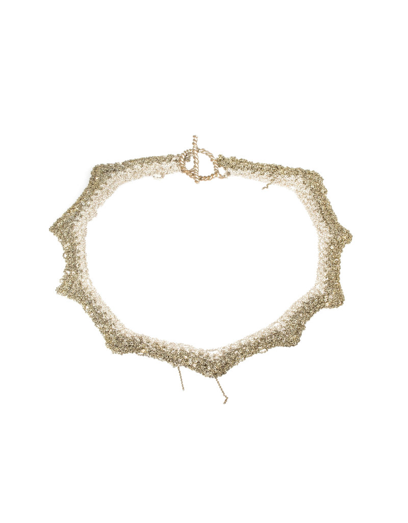 Zig Zag Necklace in Silver and 18k Gold Vermeil