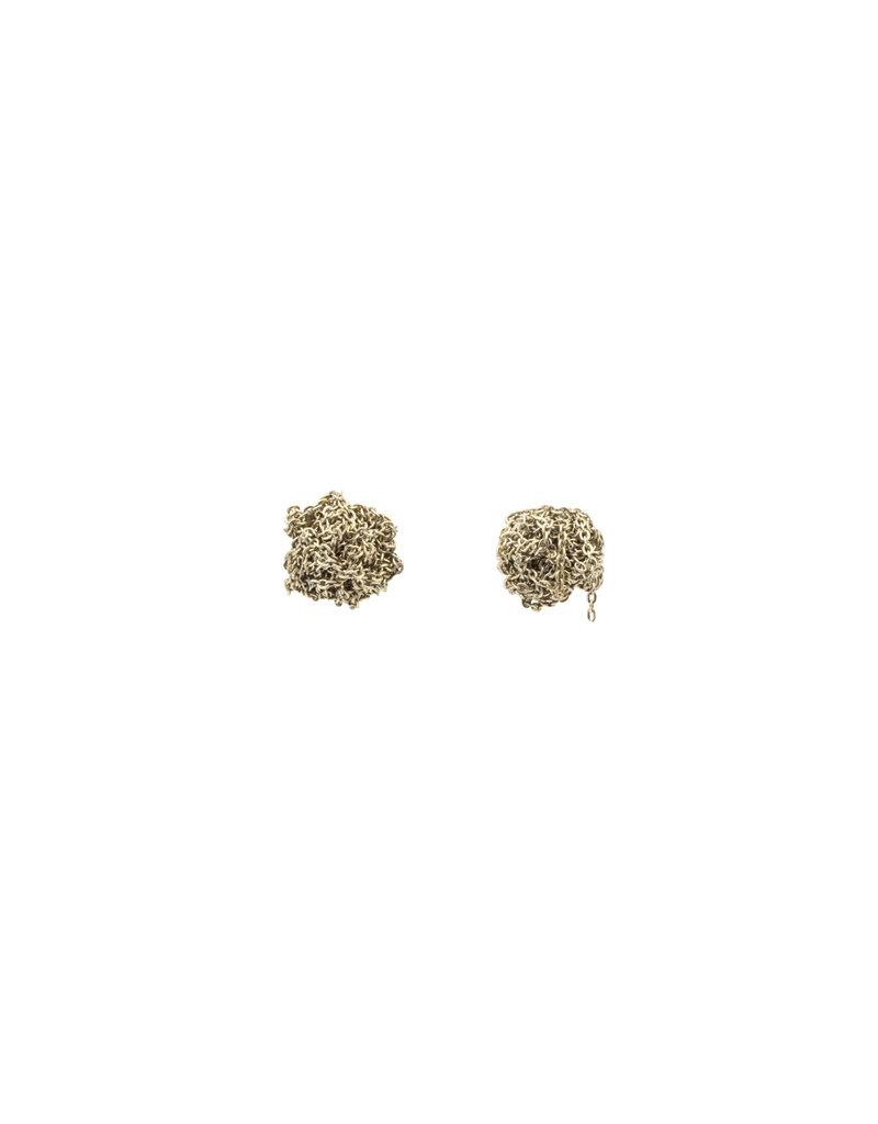 Bead Earrings in Oxidized 18k Gold Vermeil