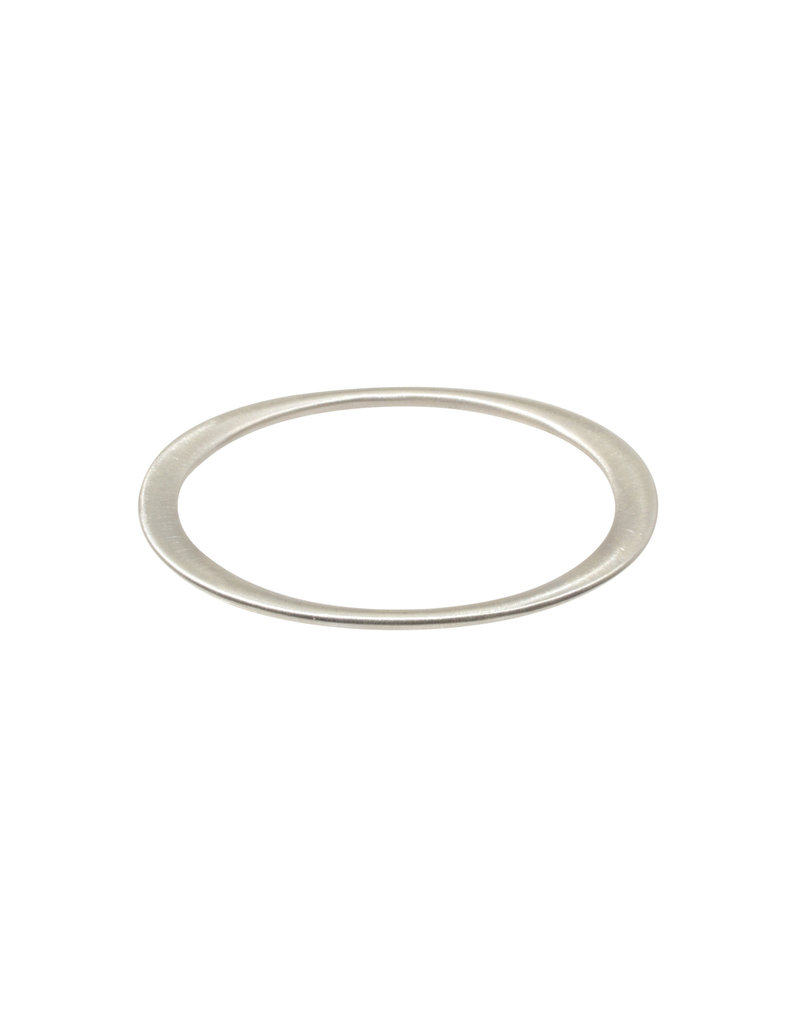 +Oval Bangle in Silver
