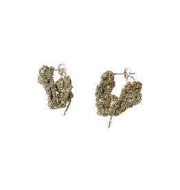 Cuff Earrings in 18k Galvanic Vermeil and Silver