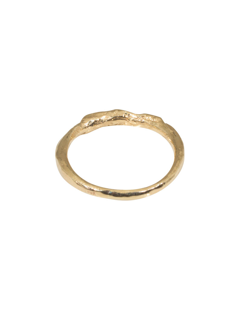 Sister Ring with Grey Diamonds in 14k Yellow Gold