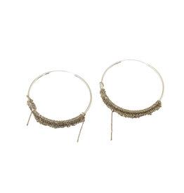 Small Circlet Hoop Earrings in 18k Vermeil and Silver