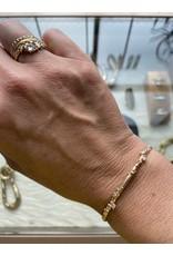 Narrow Encrusted Diamond Cuff in 18k Yellow Gold