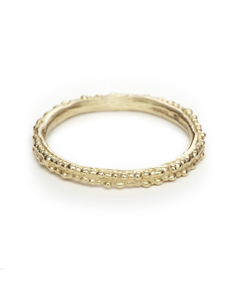 Double Beaded Band in 14k Yellow Gold