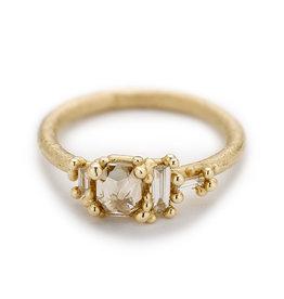 Rosecut Champagne Diamond Ring in 14k Yellow Gold