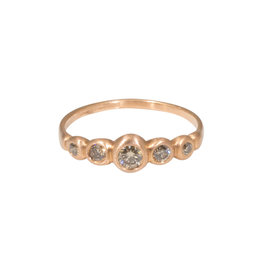 Marian Maurer Kima Ring with 5 Champagne Diamonds in 18k Rose Gold