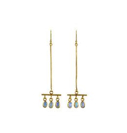 Margery Hirschey Opal Broom Earrings in 18k Gold
