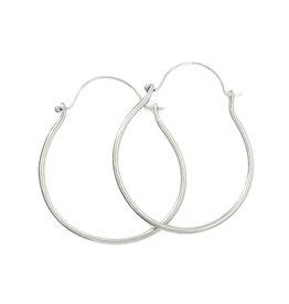ladha by Lindsay Knox Moritz Hoop Earrings in Silver