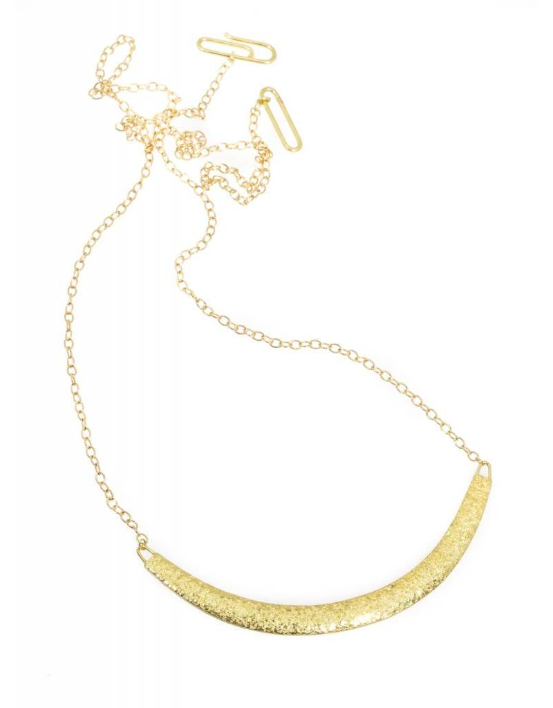 Compressed Sand Bar Necklace in 18k Yellow Gold