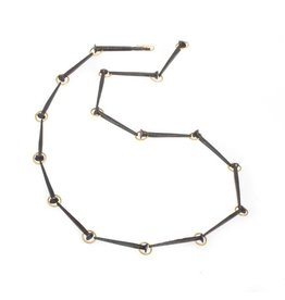 Nail Necklace in Iron and 18k Yellow Gold