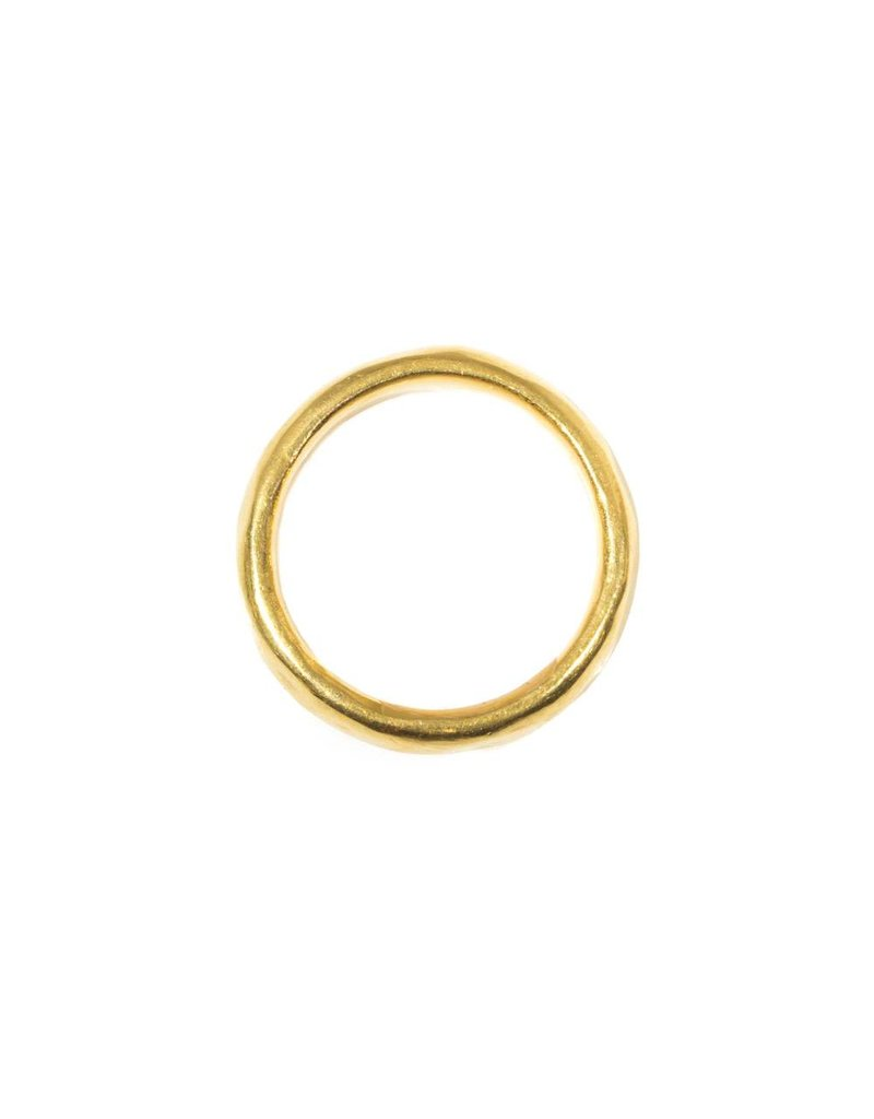 5mm Half Round Burnished Band in 22k Gold