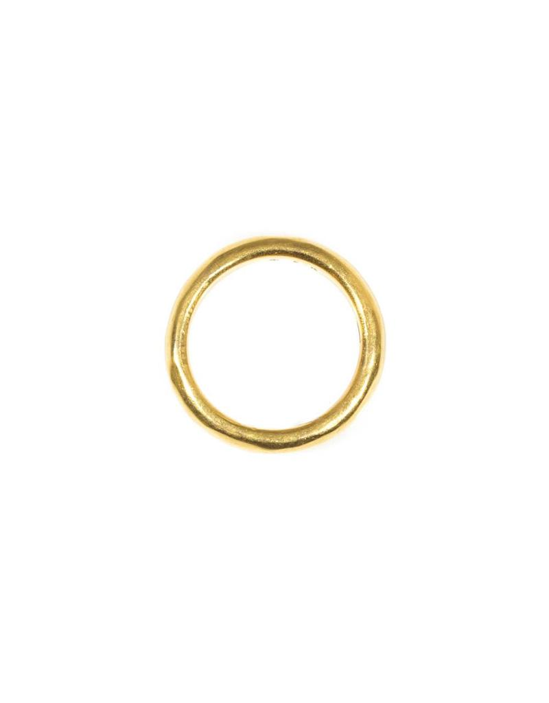 4mm Half Round Burnished Band in 22k Gold