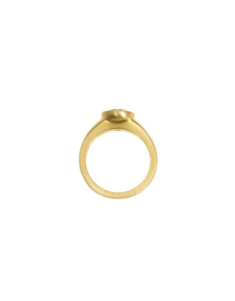 Raised Cup Setting with Brilliant Diamond in 18k Yellow Gold