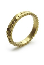 Double Hex Ring in 18k Yellow Gold