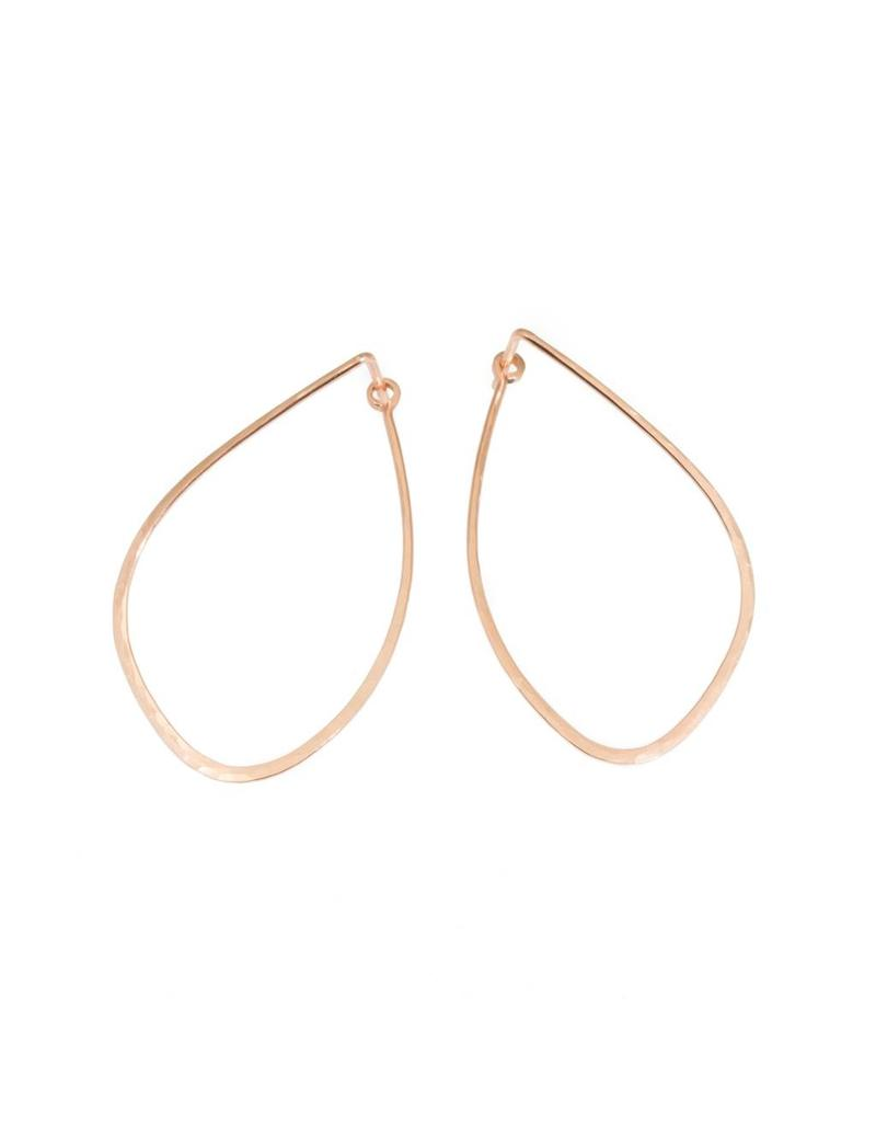Mussel Hoop Earrings in 14k Rose Gold