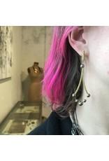 Ball Bearing Chandelier Earrings  in 18k and 22k Gold