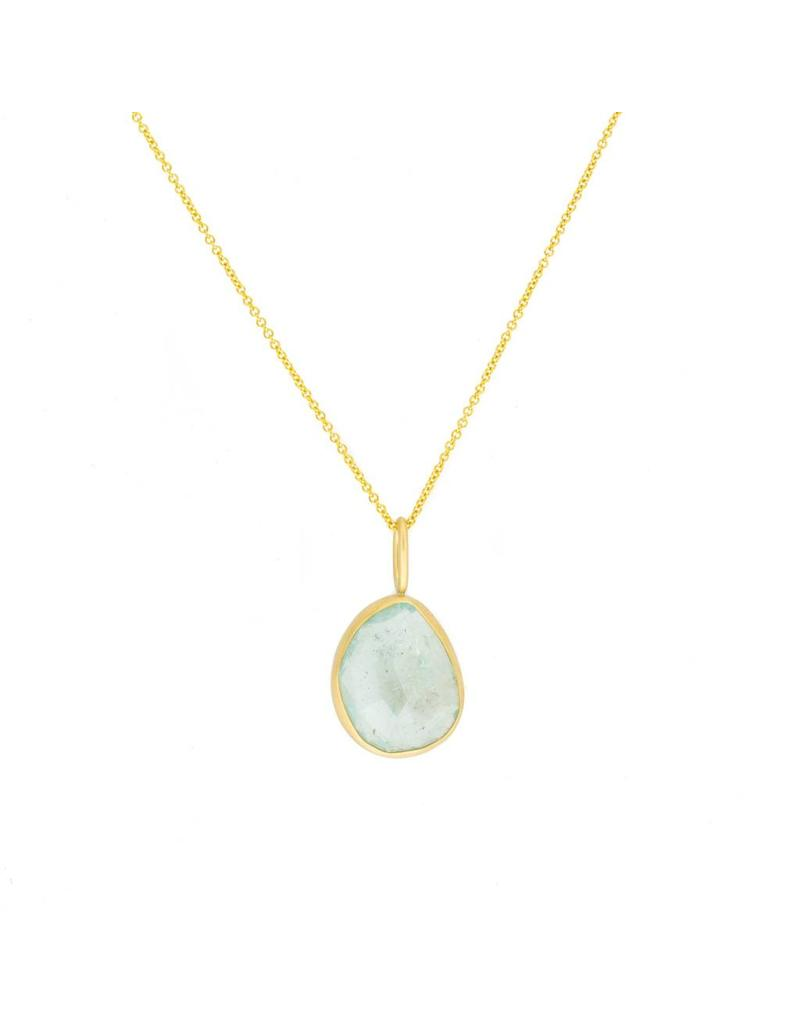 Aquamarine Pendant in 18k Yellow Gold