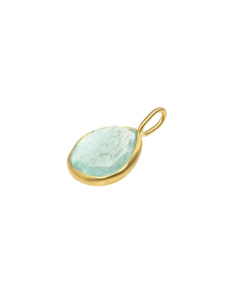 Aquamarine Pendant in 18k Yellow Gold
