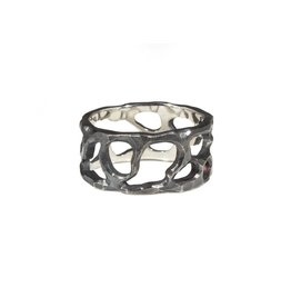 10mm Reef Ring in Oxidized Silver