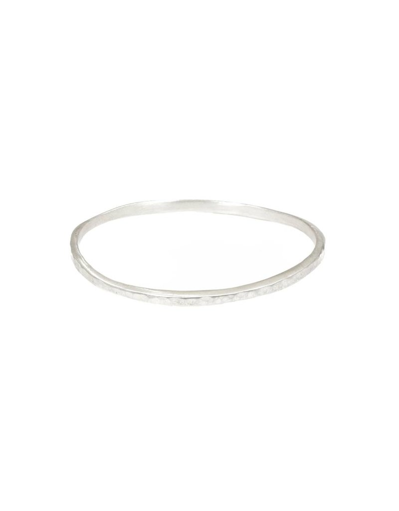 Carved Silver Bangle in Silver