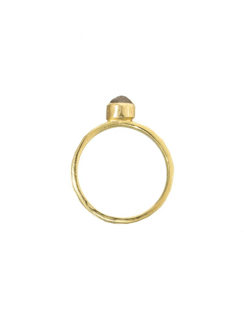 Raw Diamond Ballas Ring in 18k Yellow Gold