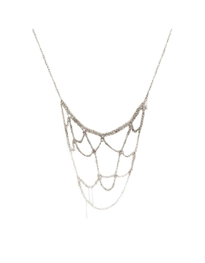 Web Necklace in Oxidized Silver