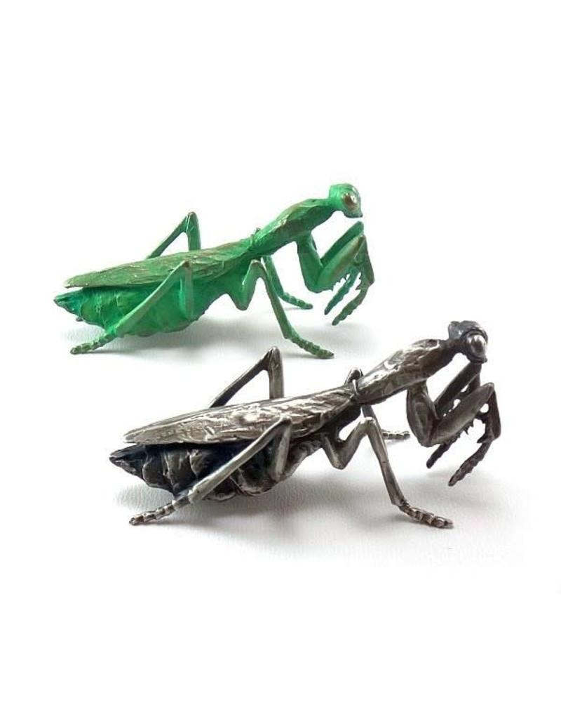 Praying Mantis Pendant in Silver