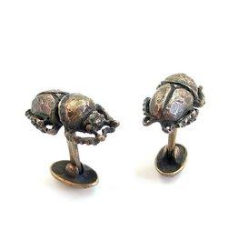 Scarab Beetle Cuff Links