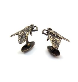 Tiger Moth Cuff Links in Bronze