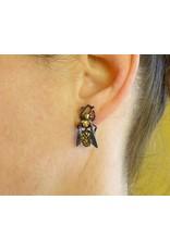Yellow Jacket Wasp Post Earrings