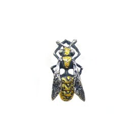 Yellow Jacket Wasp Lapel Pin