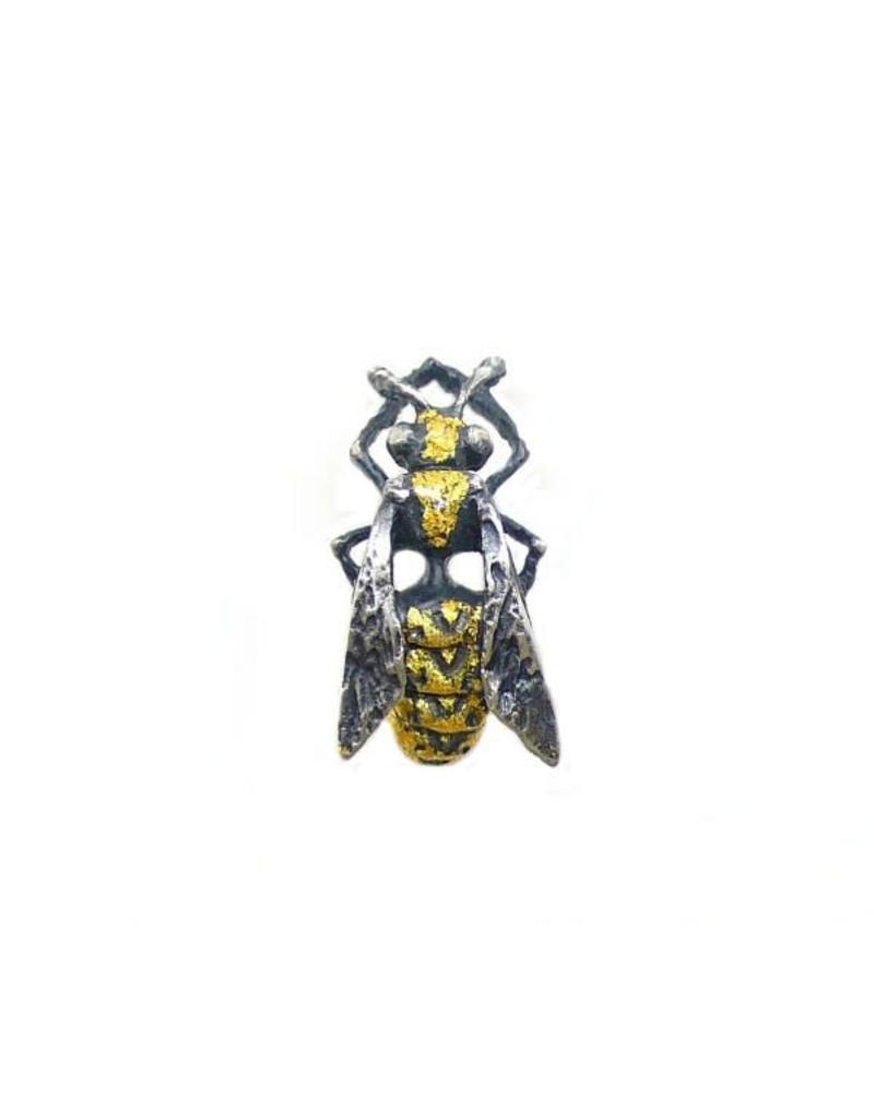 Yellow Jacket Wasp Lapel Pin