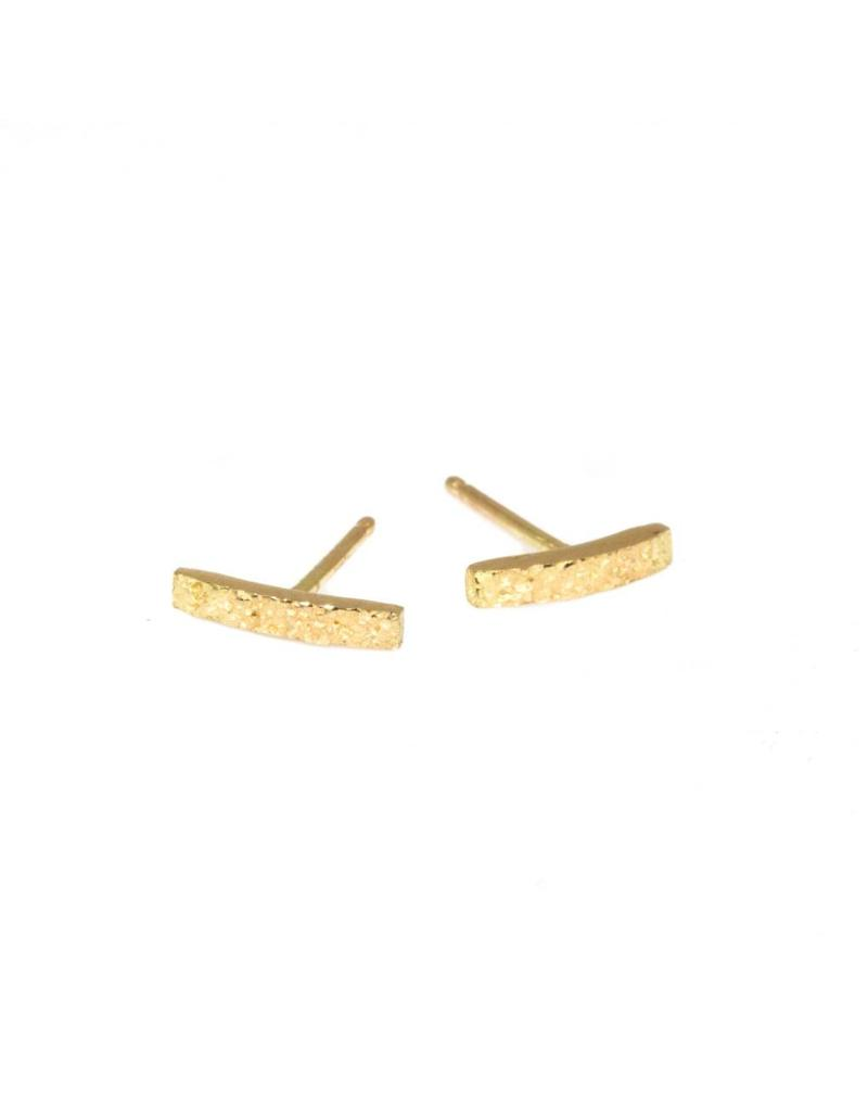 Sand Bar Post Earrings in 18k Yellow Gold