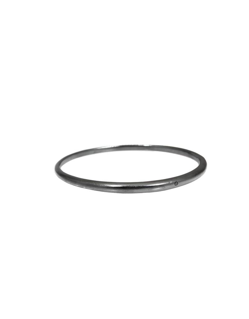 Tapered Bangle with 1.8mm Black Diamond