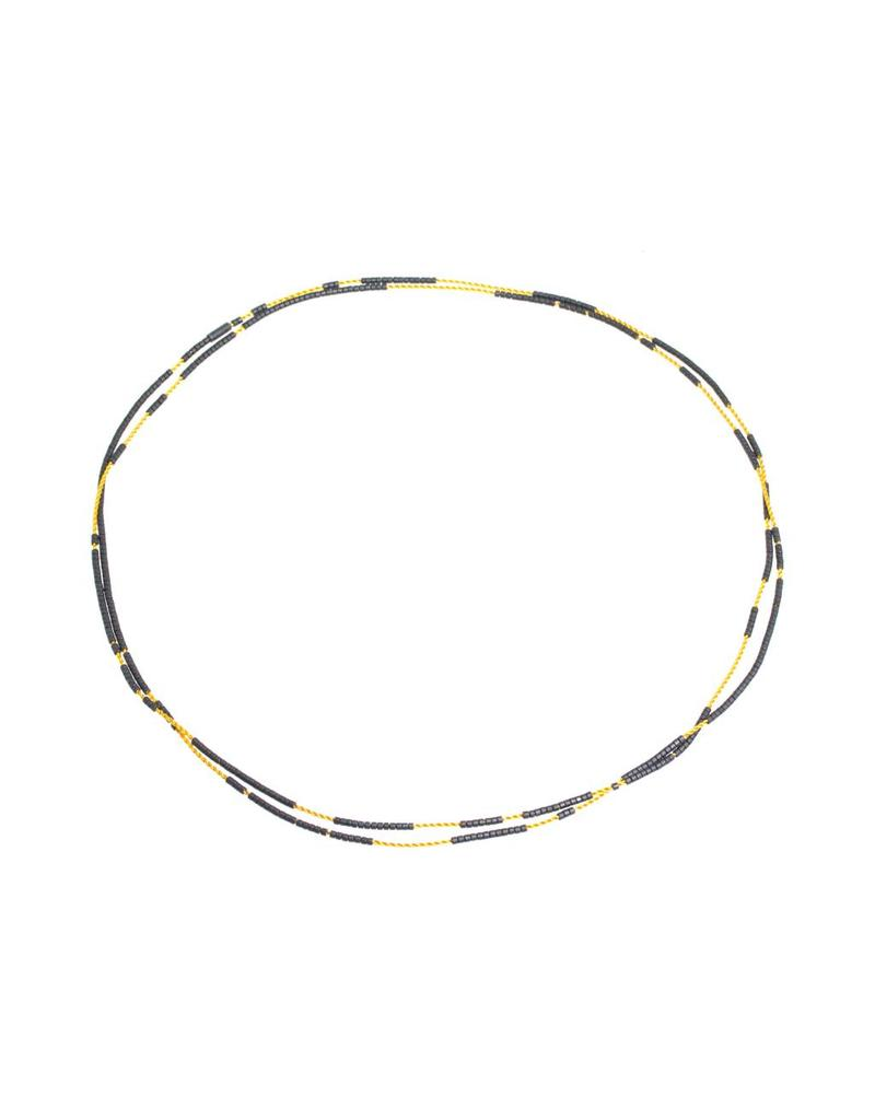 Vela Necklace in Yellow and Grey