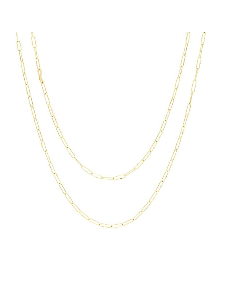 Short Links Chain in 18K Gold - 34""