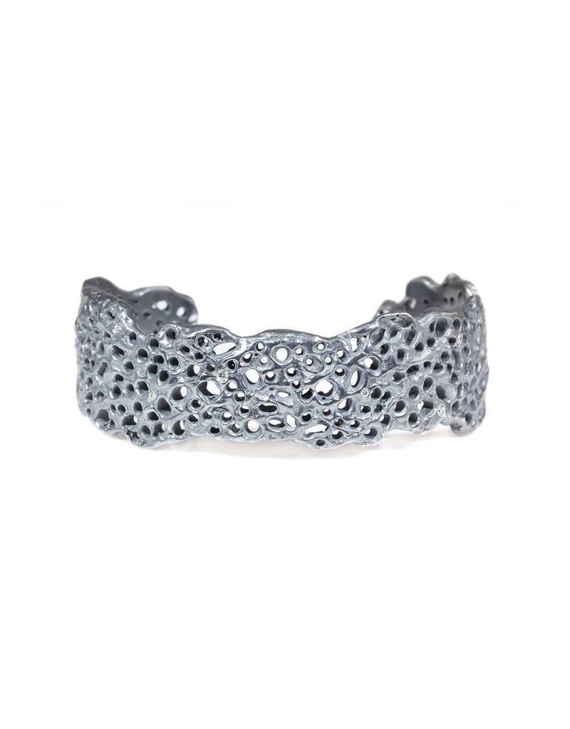 M Koraru Coral Cuff in Oxidized Silver