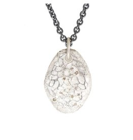 Topography Pendant with Diamond Mackles in Silver