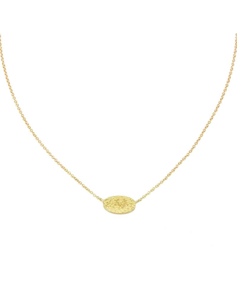 Oval Sand Necklace in 18k Yellow Gold