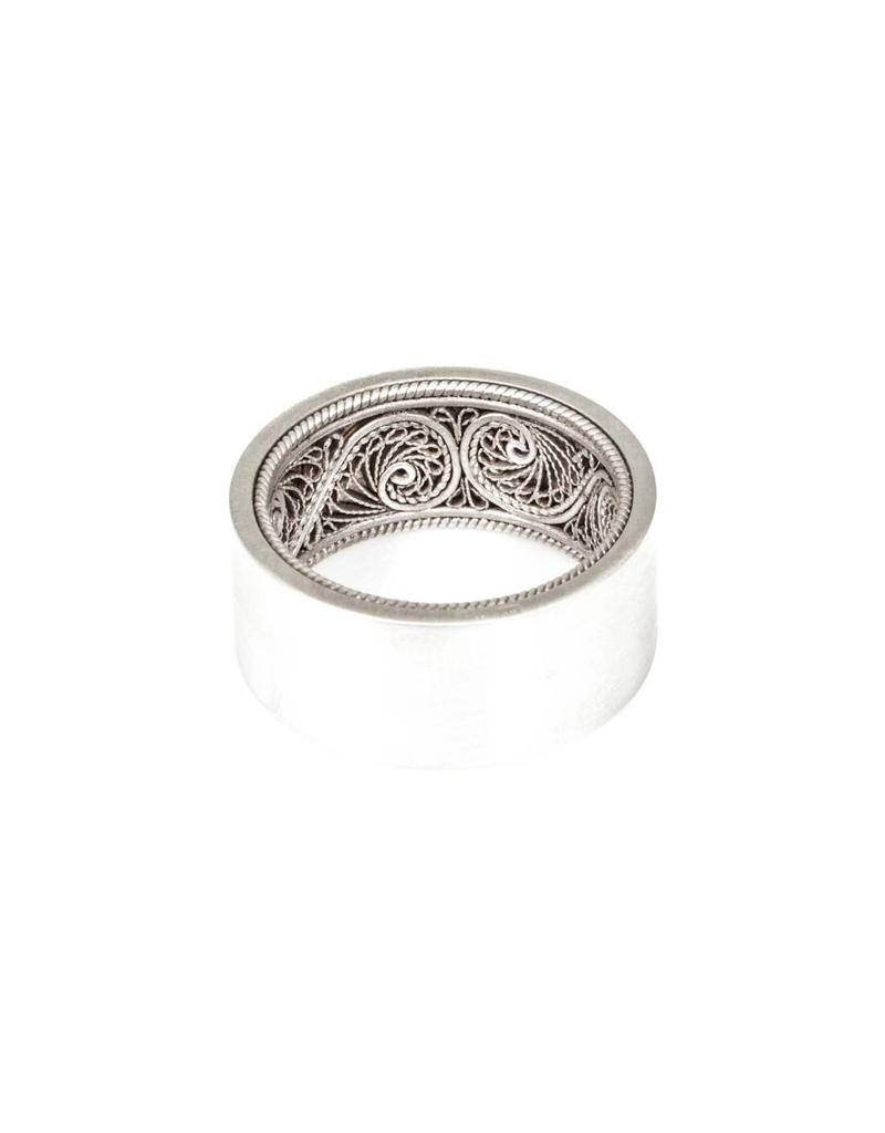 Large Silver Filigree Ring