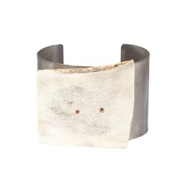 Cuff with Antler in Titanium