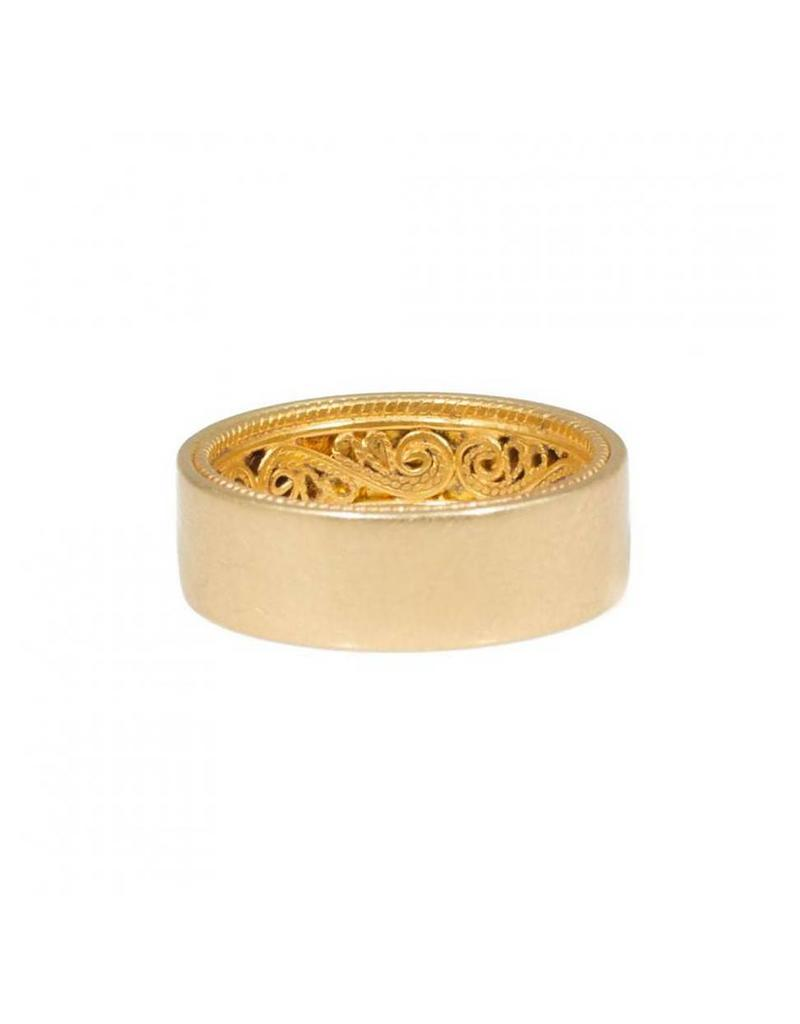 Filigree Ring in 18k & 24k Yellow Gold