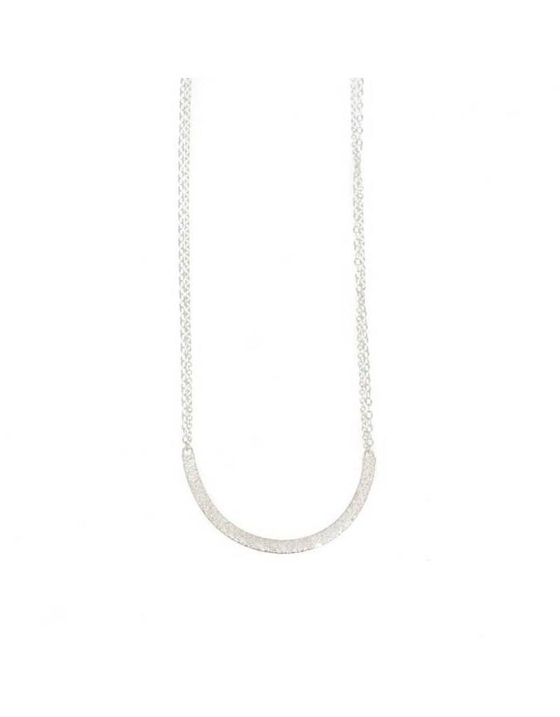 Sand U Necklace in Silver