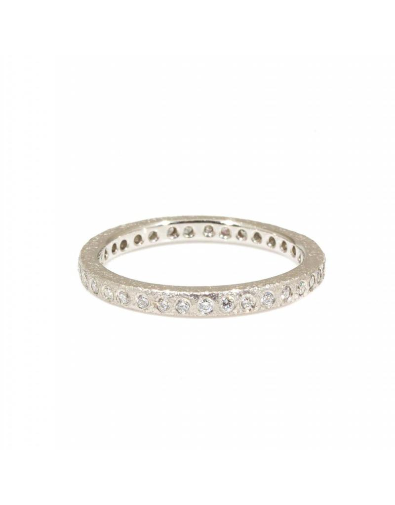 Platinum Eternity Band with Flush Set White Diamonds