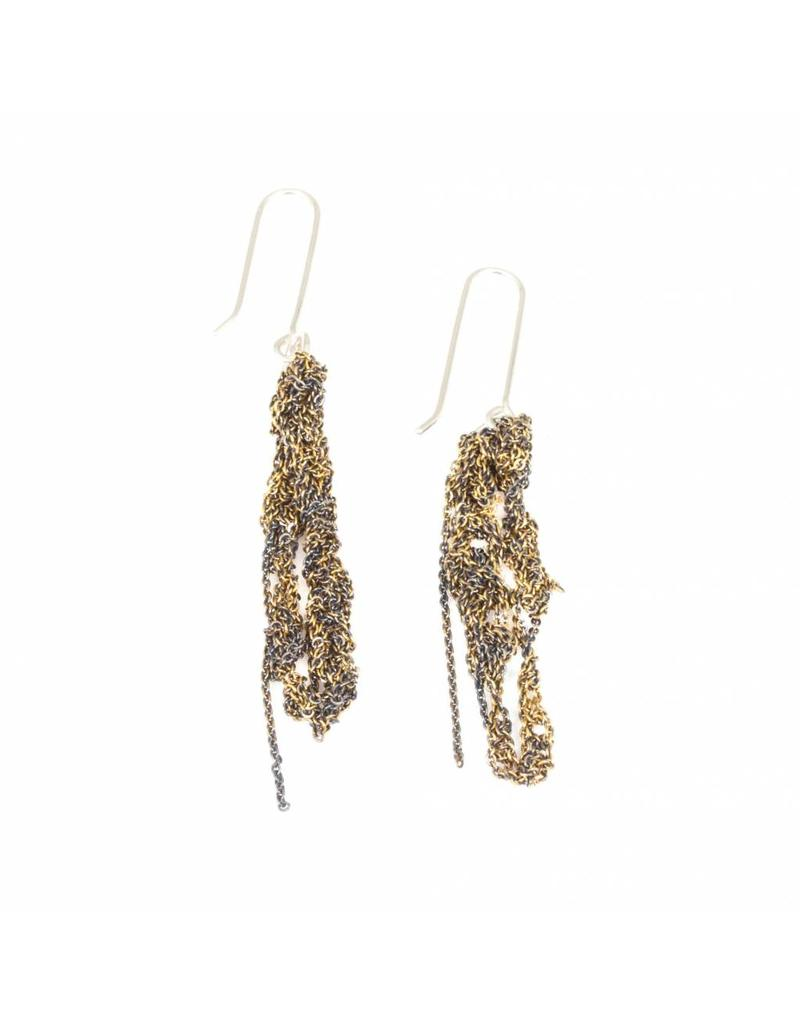 Hook Drip Atelier Earrings in 18k Yellow Gold Vermeil and Sterling Silver Hardware