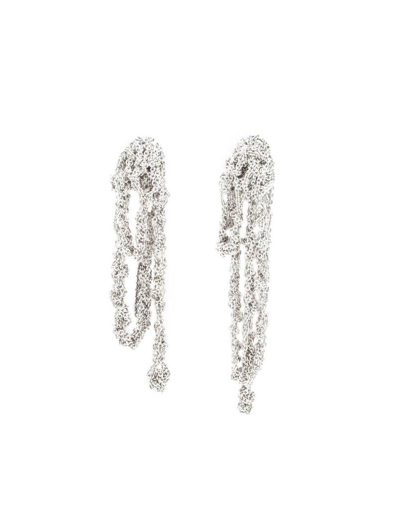 Drip Earrings in Sterling Silver