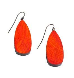 Red Arbor Wood Earrings