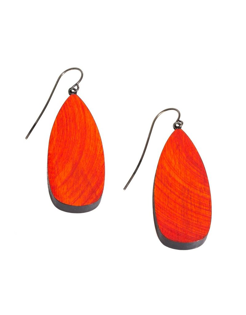 Red Arbor Wood Earrings