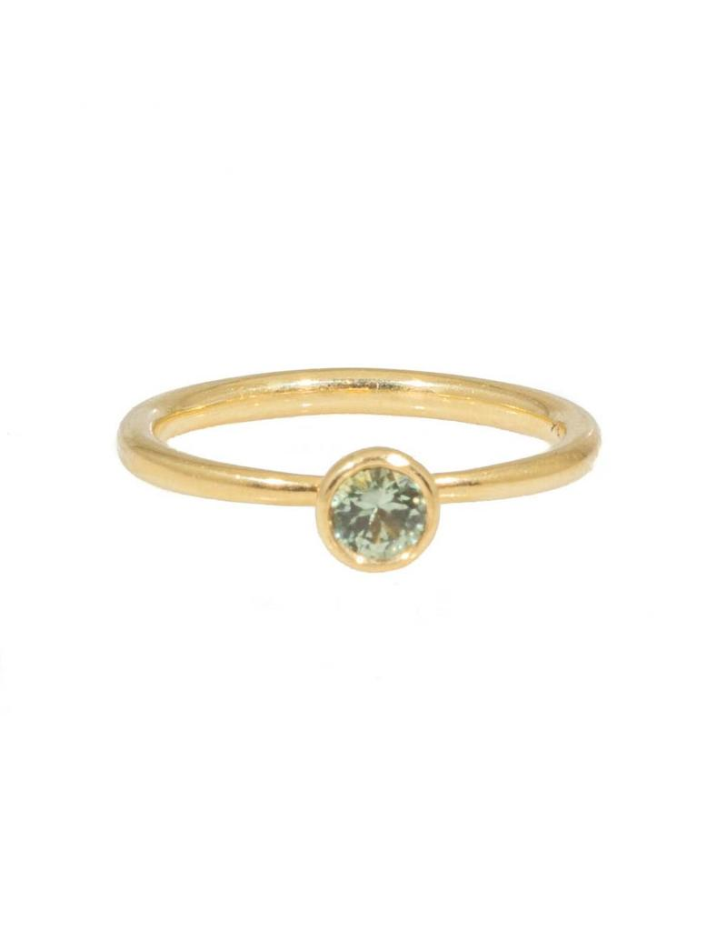 Anna Ring in 18k Yellow Gold with Green Sapphire