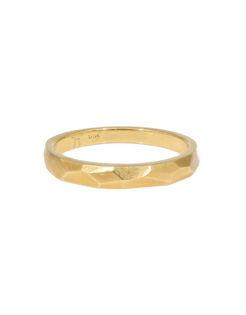 Narrow Vault Ring in 18k Yellow Gold